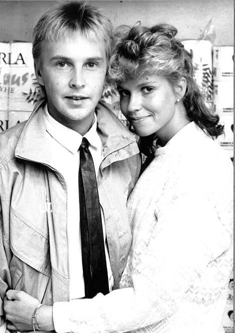 Matti Nykänen ja Tiina Hassinen vuodelta 1988.