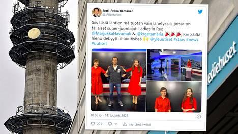 Kreeta-Maria Kivioja nousi perjantai-iltana ensimmäistä kertaa luotsaamaan Ylen puoli yhdeksän tv-uutisia.