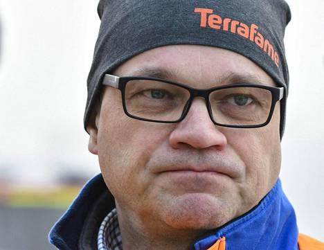 Juha Sipilä esiintyi maanantaina Terrafame-pipossa vieraillessaan Terrafamen pyörittämällä Talvivaaran kaivoksella.