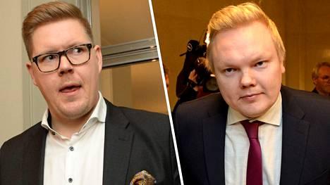 Antti Lindtman (vas.) ja Antti Kurvinen.