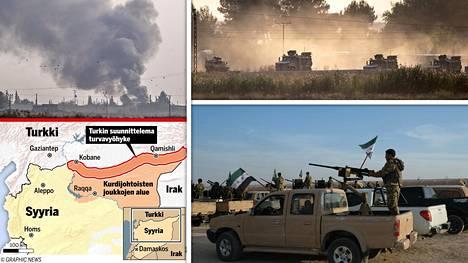 Turkki hyökkäsi Pohjois-Syyrian kurdialueelle keskiviikkona.