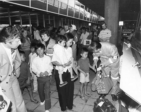 Suomeen saapui vietnamilaisia pakolaisia 1979.