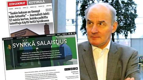 –Tuossa on paljon virallisen syytteen alaisia rikoksia, Tolvanen arvioi toimittaja Ari Lahdenmäen toiminnasta kerrottuja tapahtumakuvauksia.
