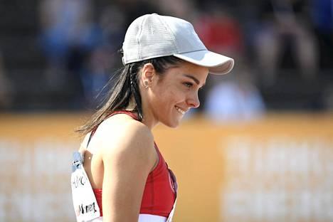 Maria Huntington kuvattuna viime kesänä Kalevan kisoissa.