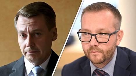 Juho Romakkaniemi (oik.) piikitteli SDP:n ehdokkaaksi lähtenyttä Tuomas Kurttilaa.