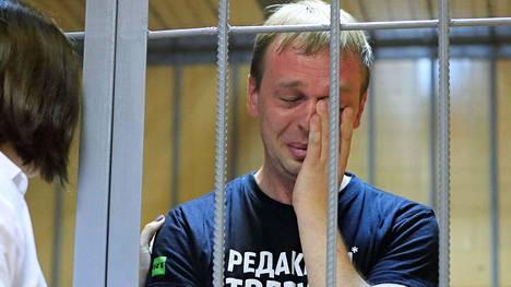 Ivan Golunov kaltereiden takana lauantaina.
