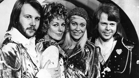 1974: Euroviisu Waterloon jälkeen koko maailma tunsi Abban (Benny Andersson, vas., Anni-Frid Lyngstad, Agnetha Fältskog ja Björn Ulvaeus).