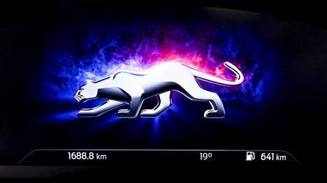 Ford Puman mittaristoon ilmestyy käynnistyksen yhteydessä hetkeksi hauska animoitu puuman kuva.