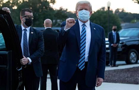 Presidentti Donald Trump kotiutui Walter Reed -sotilassairaalasta 5. lokakuuta.