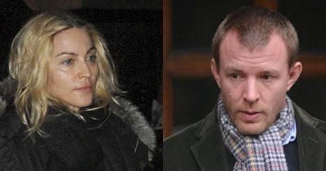 Kumman puolella sinun sympatiasi ovat: Madonnan vai Guy Ritchien?