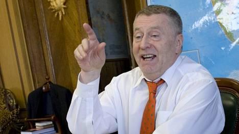 Poliitikko Vladimir Zhirinovski on tunnettu räväköistä lausunnoistaan.