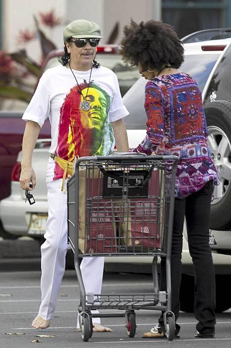 Carlos Santana ja kihlattu Cindy Blackman