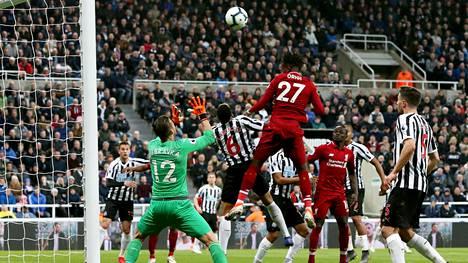 Divock Origi viimeisteli Liverpoolin voittomaalin.