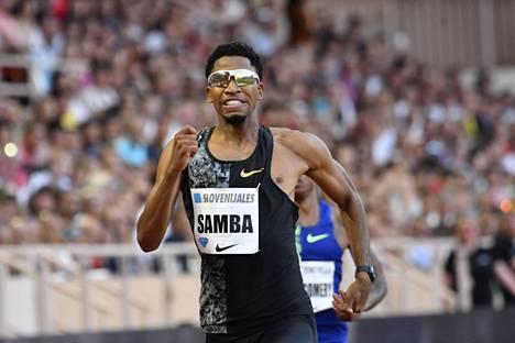Qatarin Abderrahman Samba on yksi kolmesta alle 47 sekunnin pinkoneista aidatun ratakierroksen aktiivijuoksijoista.