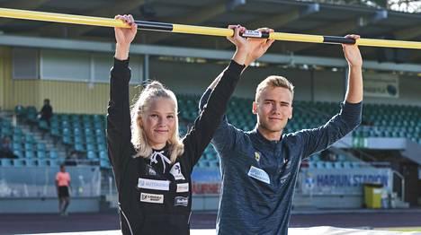 Jessica Kähärä ja Arttu Mattila tähtäävät yhdessä korkealle.