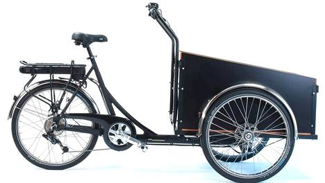 Tällainen sähköavusteinen Christiania Bikes Light -laatikkopyörä painaa noin 50 kilogrammaa ja maksaa 3 100 euroa.