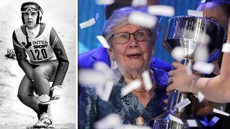 Matti Nykäsen äiti Vieno otti Urheilugaalassa vastaan poikansa Uno-palkinnon.