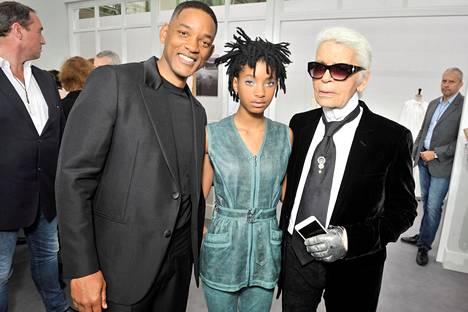 Näyttelijä ja laulaja, näyttelijä Will Smithin tytär Willow Smith kiinnitti Lagerfeldin huomion. Kuva vuodelta 2016.