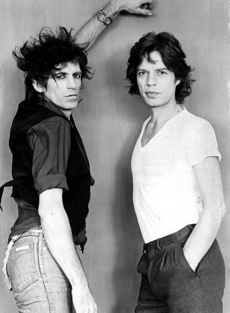 Keith Richards ja Mick Jagger.