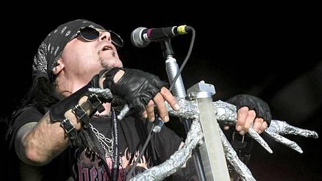 Ministryn laulaja Al Jourgensen Suomessa tuska-festivaaleilla vuonna 2003.