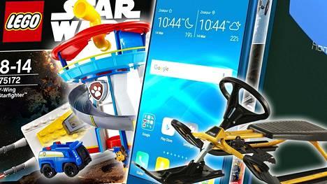 Jutussa olevassa graafissa on vertailtu esimerkiksi Stiga Snowracer Classic -ratikan, Ryhmä Hau -vahtitornin, Legon Star Wars tähtihävittäjän ja Huawein puhelimen hintoja eri verkkokaupoissa.
