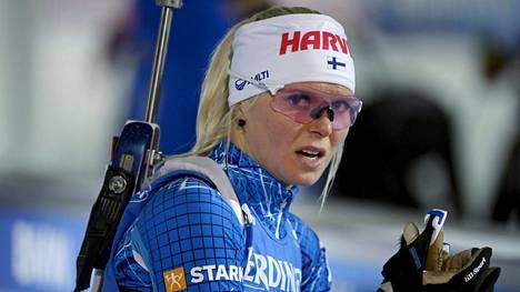 Mari Eder on 12 kilpailun jälkeen ampumahiihdon maailmancupissa kokonaiskilpailun sijalla 45.