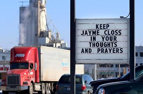 Jaymen tapaus on herättänyt runsaasti huomiota ympäri maata. Kuva tytön kotiseudulta Wisconsinin Barronista marraskuulta.