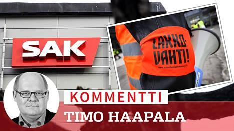 Jos lakkoilu ja työtaistelutoimet jatkuvat, herää kysymys vastuullisuudesta, Timo Haapala kirjoittaa.