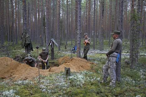 Sandarmohin metsän hautausalueen kaivauksia vuonna 2018.