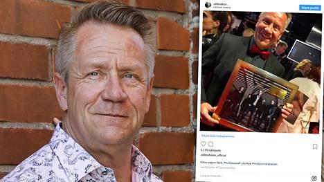 Olli Lindholmin viimeiseksi jääneessä Instagram-kuvassa Olli hymyilee Emma-gaalan punaisella matolla.