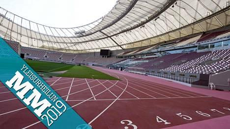 Dohan Khalifa International Stadion on ammottanut tyhjyyttään kisojen ajan.