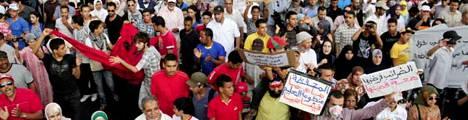 Mielenosoitus Marokossa syyskuussa.
