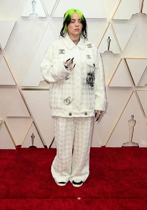 Billie Eilish Oscar-gaalassa helmikuussa.