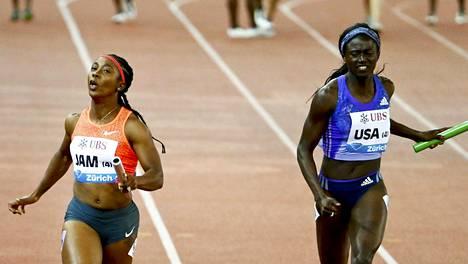 Shelly-Ann Fraser-Pryce juoksi voittoon Zürichissä.