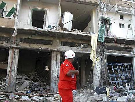Varhain aamulla sattunut räjähdys tuhosi kerrostalon alimmaisen kerroksen sunnienemmistöisessä kaupunginosassa. Räjähdyksen syytä ei tiedetä.