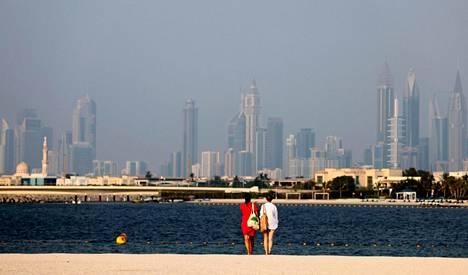 Kaupunkinäkymä Dubaissa 17. elokuuta 2021.