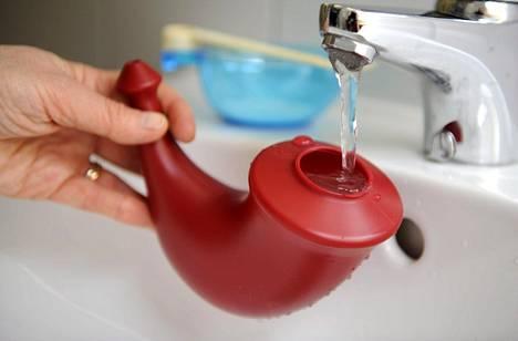 Huuhtelu kostuttaa kuivia limakalvoja.