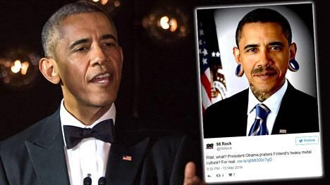 Barack Obaman metalliylistys sai sosiaalisen median hauskalle tuulelle.