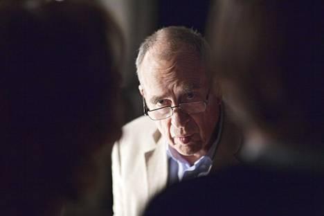 Jörn Donner Armi elää -elokuvan kuvauksissa heinäkuussa 2014.