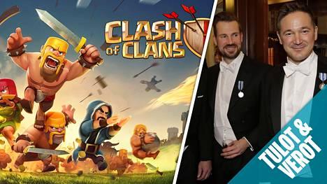 Supercellin perustajat Mikko Kodisoja (vas.) ja Ilkka Paananen kuuluvat edelleen Suomen tulokärkeen. Yhtiön ehkä tunnetuin peli Clash of Clans julkaistiin jo vuonna 2013.