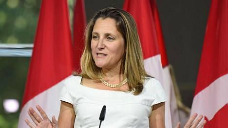 Kanadan neuvotteluja johtava ulkoministeri Chrystia Freeland.