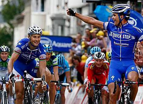 Belgian Gert Steegmans (oik.) tuuletti kotimaahansa päättyneen, dramaattisen etapin voittoa.