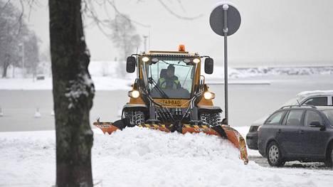 Tammikuussa aurauskalusto on ollut käytössä eteläistä Suomea myöten.