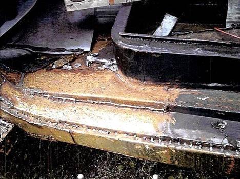 Helmapalkin hitausjälki ei tyydyttänyt remontin tilaajia.