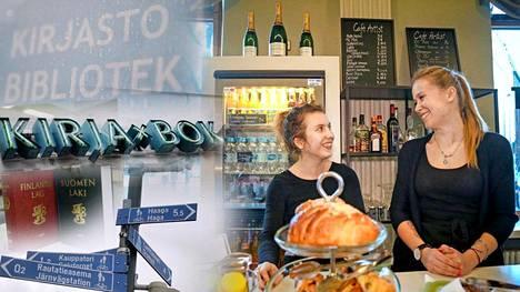 Cafe Artistin kahvilatyöntekijät Jessica Kilpi ja Anna Kruse pitävät tuloksia älykkyyden eroista yllättävinä.