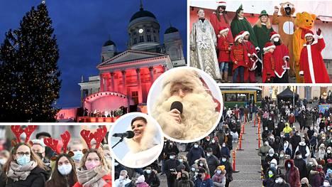 Joulukausi avattiin valtakunnallisesti Helsingissä Senaatintorilla tänään.