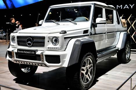 Voimaa peliin: Mercedes-Maybach G 650 Landaulet.
