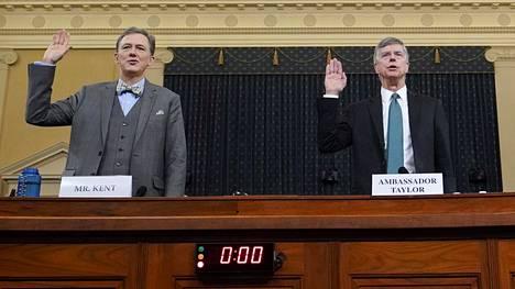 Virkasyytetutkinnan keskiviikkoisessa kuulemisessa tentattiin Eurooppa-osastoa johtavaa George Kentiä ja Yhdysvaltain Ukrainan-suurlähettilästä Bill Tayloria.