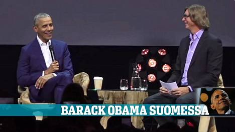 Barack Obama käveli Nordic Business Forumin lavalle kello 16.31.