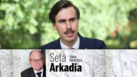 Kansanedustaja Matias Mäkysen sanotaan muistuttavan etäisesti kazakstanilaista tutkivaa journalistia Borat Sagdijevia.